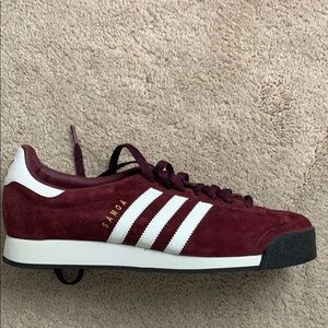 NEVER WORN, suede adidas sneakers